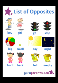 Opposites Worksheets | guruparents
