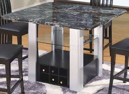 Image Bar Chairs Value City Furniture Marble Top Modern 5pc Bar Table Set Wwine Rack