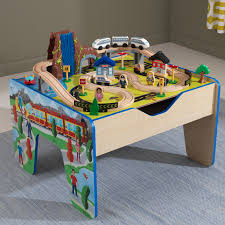 kidkraft rapid waterfall train set table with 48 accessories included com