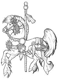 Free Coloring Pages Carousel Horse Coloring Pages Pinterest