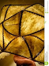 Goatskin Lamp Shade Stock Image Image Of Made Triangle 64897041