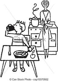 dinner table clipart black and white. pin kitchen clipart black and white #5 dinner table