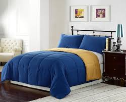 enchanting bedroom interior design with blue gold bed sheet setodern royal blue bedding