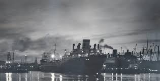 """A. Aubrey Bodine Signed Vintage Silver Print """"Oil Tankers"""", circa 1920s at  1stDibs"""
