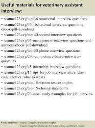 top 8 veterinary assistant resume samples veterinary technician resume samples