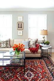 bedroom decorating ideas with red carpet transitional living room with oriental rug custom textiles and nesting