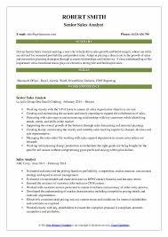 Sales Analyst Resume Sales Analyst Resume Samples Qwikresume