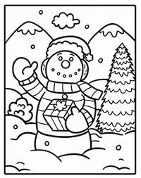 Small Picture Free Lonely Snowman Coloring Pages To Print Winter Coloring