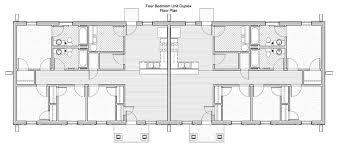 Amazing 2 Bedroom Duplex House Plans Gallery  Best Inspiration 4 Bedroom Duplex Floor Plans