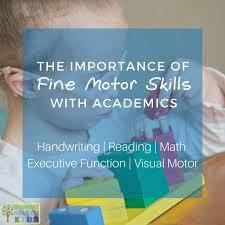 fine motor skills with academics