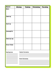 Planner Printables For Students Weekly Student Planner Sheet Blank