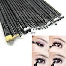 2017 20pcs bulk powder foundation eyeshadow eyeliner lip brushes cosmetic makeup sets tools jul25 46 china