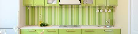 green striped kitchen design and cabinets