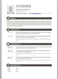 Formatos De Curriculum Vitae En Word Gratis Modelos De Curriculum Vitae En Word Para Completar Formato