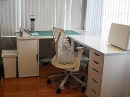 furniture shaped computer desk ikea new furniture office corner table glass white top wooden student
