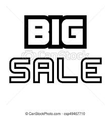 Sale Quote Big Sale Creative Inspiring Motivation Quote Concept Black Word On Transparent Background
