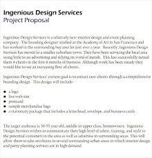 Design Proposal Sample Design Brief Template Marketing Client Proposal Free Download