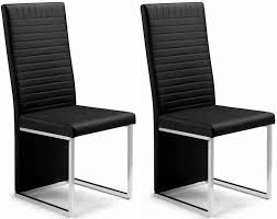 buy julian bowen tempo black faux leather dining chair (pair