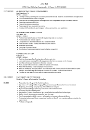 Intern Resume Examples Consulting Intern Resume Samples Velvet Jobs 78