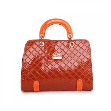 Coach Rhombus Medium Orange Satchels BSS