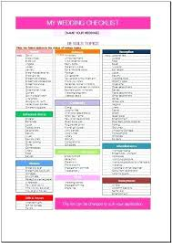 Wedding Excel Checklist Excel Wedding Checklist Simple Wedding Checklist Template Wedding