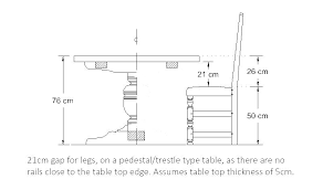 dining room table size calculator standard height inches sizes round australian