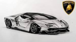 Drawing new Lamborghini Centenario LP770-4 ! - YouTube