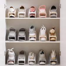 Home Home Double Shoe storage rack, household plastic simple Shoe care  space saving Shoe tray living room storage Shoe rack