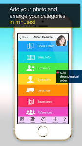 ... Screenshots for Resume Mobile Pro - design & share professional PDF  resume on the go ...