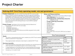 project charter sample best photos of project management charter template simple