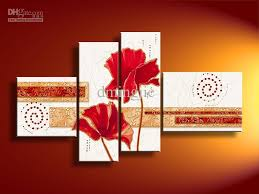 10x12inch 8x24inch 8x24inch 10x16inch 4pcs set mix order abstract oil paintings the modern abstract oil paintings stretchered framed hand painted  on wall art red dot with 2018 hand painted oil wall art red dot flowers landscape oil
