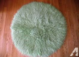round flokati rugs rug light green from definition cleaning greece