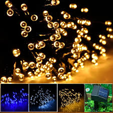 inst solar powered led string light ambiance lighting 100 led solar fairy string lights for outdoor