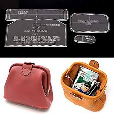 Leather Templates Amazon Com Nw Handbag Acrylic Template Wallet Leather Pattern