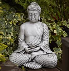 buddha garden. Borderstone Fan Buddha Garden Ornament