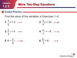 more two step equations ppt