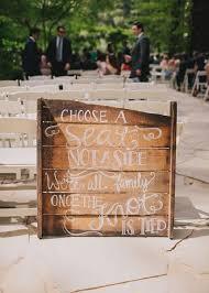 rustic wood pallet wedding ceremony sign