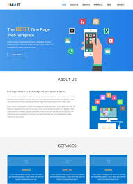 one page website template ballet one page free website template webthemez