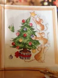 Details About X Margaret Sherry Festive Mice Xmas Tree Baubles Christmas Cross Stitch Chart