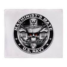 Navy Machinist Mate Usn Machinists Mate Mm Skull Throw Blanket Navy Day