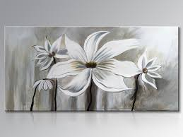 framed hand painted white lotus flower oil painting on canvas abstract floral wall art home decoration on floral wall art framed with framed hand painted white lotus flower oil painting on canvas