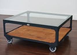 Industrial Glass Coffee Table Coffee Table Powerhouse Cart Table Stains Shelves And Flats