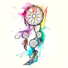 Pics Of Dream Catchers Tattoos Watercolor Dreamcatcher Tattoo Design Tattoo Art Drawings 53