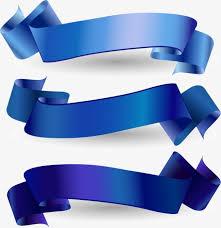Blue Ribbon Design Blue Ribbon Banner Vector Material Blue Ribbon Light