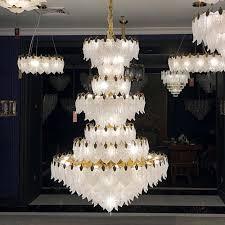 Moderne Luxus Led Kristall Kronleuchter Beleuchtung Große Hotel Restaurant Treppe Kronleuchter Lichter Wohnzimmer Cristal Lampen