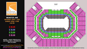 Q Arena Seating Chart Monsters Thompson Boling Arena Seating