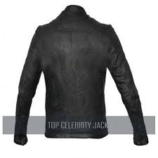 oblow zac efron 17 again wrinkled washed fine quality men s leather jacket
