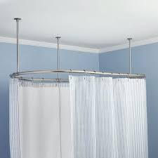 oval shower curtain rod home depot