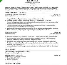 Sample Of Resume Of Teacher Resume Samples For Teachers With No ...
