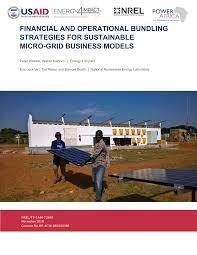 Financial and Operational Bundling Strategies for Sustainable Micro-Grid  Business Models